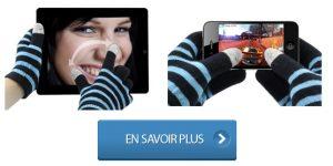 Gants tactiles écran capacitif iPhone et iPad