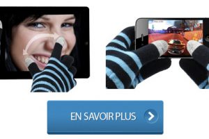 Gants tactiles écran capacitif iPhone et iPad