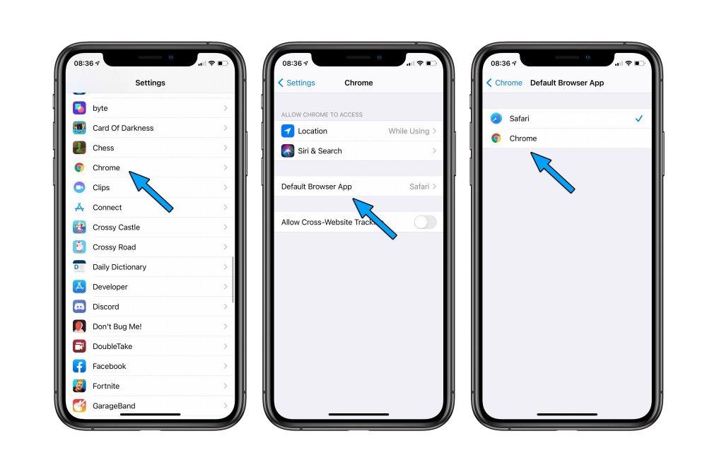 Tutoriel pour remplacer Safari par Chrome sur l'iPhone