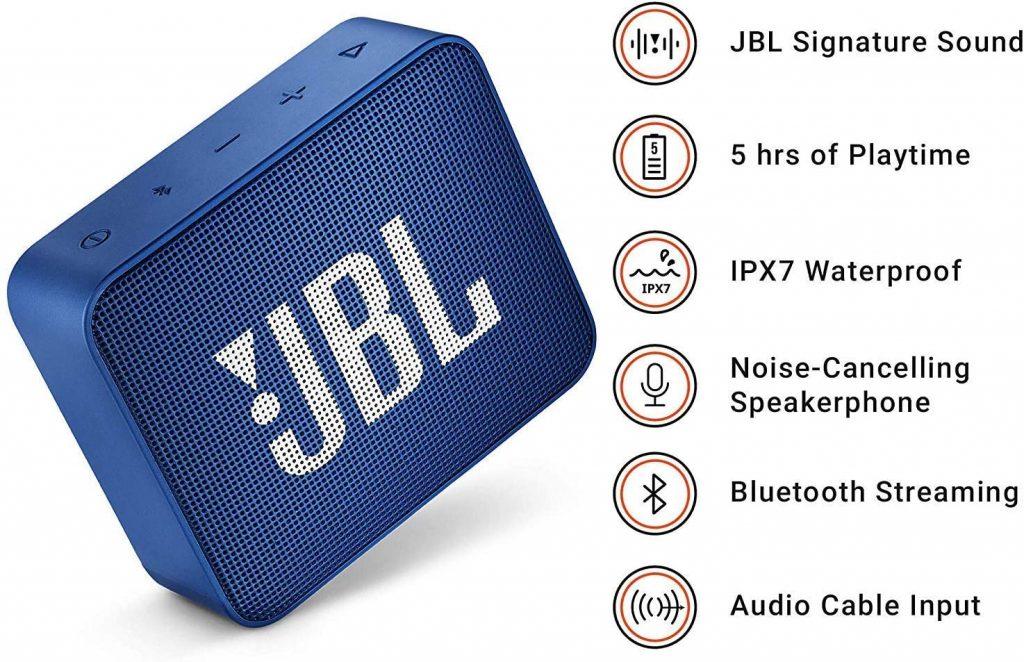 Caractéristiques du JBL Go 2