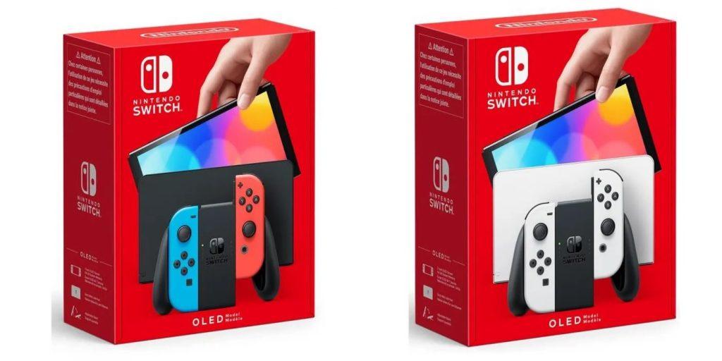 Nouvelle Nintendo Switch OLED en version joycon blanc et néon